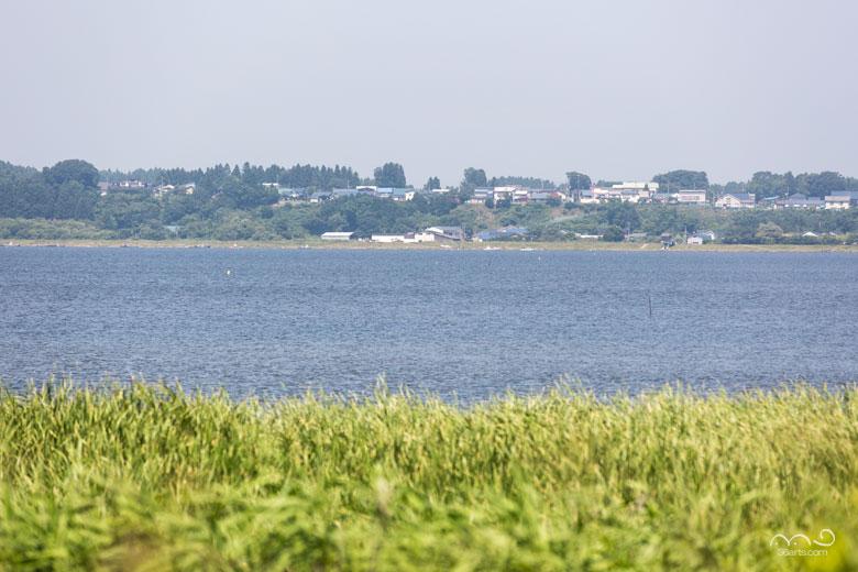 【壁紙】小川原湖と六ケ所村市街地