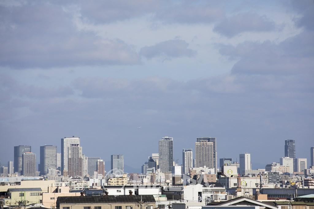 西成区から見た大阪市街