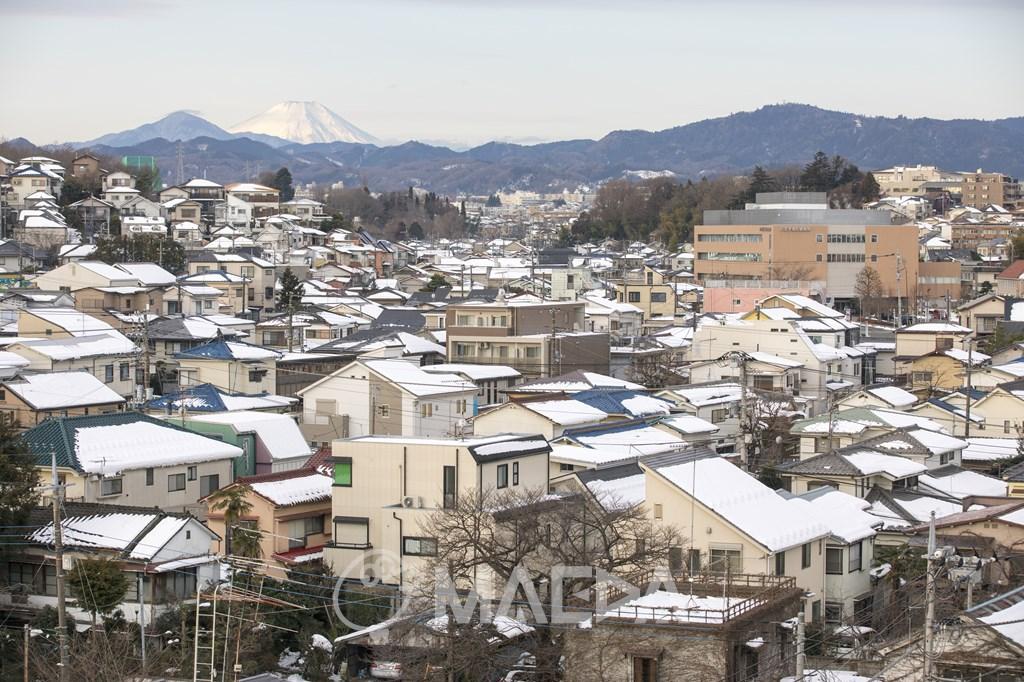 富士山と八王子市街
