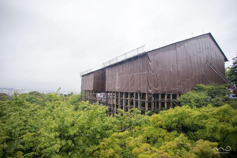 工事中の清水寺