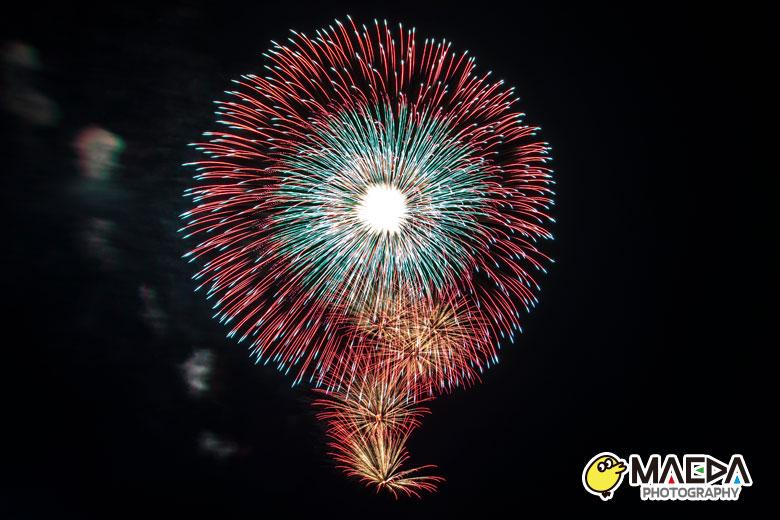 大曲の花火®春の章 昇小花八重芯引先紅光輝